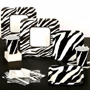 Zebra print makes good party themes good party themes for Animal print party decoration ideas